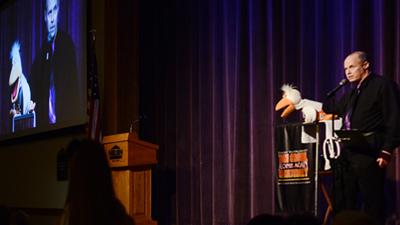 comedy ventriloquist Tom Crowl provides corporate entertainment