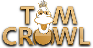 comedy ventriloquist Tom Crowl logo